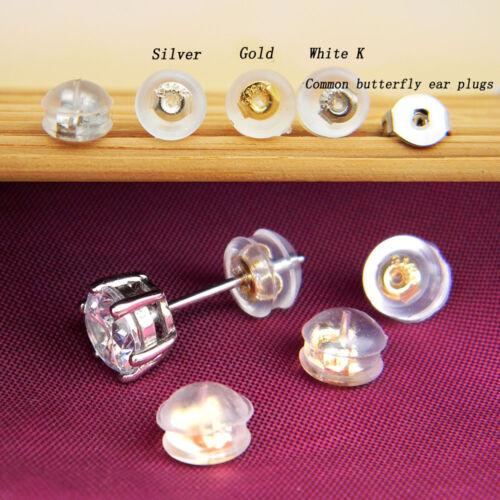 10/&20 Pcs Silicon Earring Backs Stopper Earnut Stud Earring Plug Jewelry Finding
