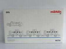 MARKLIN 3 WAGONS OLEX BP DE LA DR + 1 CAMION REF 46751