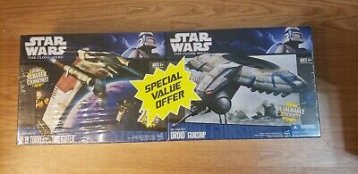 Star Wars Clone Wars V 19 Torrent Starfighter Droid Gunship Collector Twin Pack Ebay