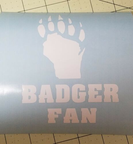 Wisconsin Badger car decal.3 styles..Free shipping