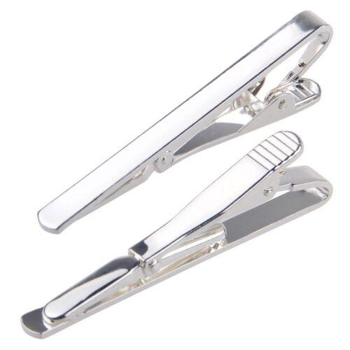 Luxury Men Necktie Tie Bar Clasp Clip Clamp Pin Metal Silver Tone Simple New