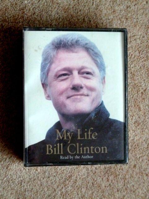 BILL CLINTON - MY LIFE  ( NEW ) - AUDIO BOOKS - TALKING BOOKS  ( 4 CASSETTES)