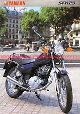 YAMAHA SR 125 - 2000 : Brochure - Dépliant - Moto                         #0534#