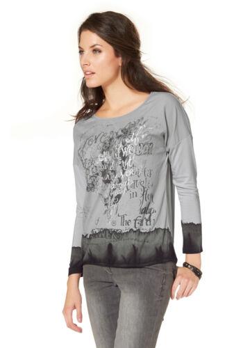 Batiksaum Statementdruck NEU!! Aniston Langarmshirt KP 39,99 SALE/%/%/%