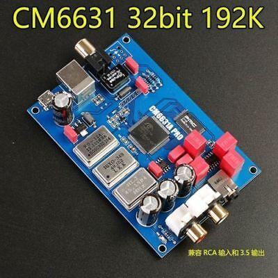 SPDIF coaxial output 32 CM6631A digital interface USB to I2S 24Bit 192K+shel