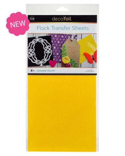 """Deco Foil Flock Transfer Sheets 6/""""X12/"""" 4//Pkg-U Choose-Pink-Orange-Yllw-Grn NEW!"""