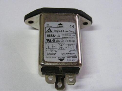 Filter Connector EMI 115//250VAC 6A 50//60 Hz 9pcs High /& Low Corp 06SS1-G-Q S