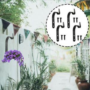 4X-Metal-Hanging-Brackets-Hooks-For-Garden-Basket-Lantern-Flower-Pots-Hanger-New