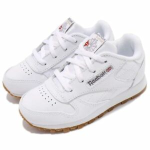 5ac91053c00 Image is loading Reebok-CL-Classic-V69626-White-Gum-Leather-Baby-