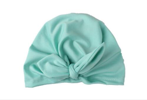 Newborn Kids Baby Boy Girl Turban Cotton Beanie Hat Winter Cap Photography Props