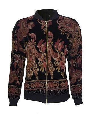 W2.8 Chainstore Printed Bomber Jacket Size 6 8 10 12 14