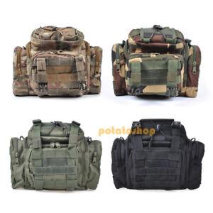 Fishing Waterproof Tackle Bag Case Sack Waist//Shoulder Forest Camo Sea//Carp