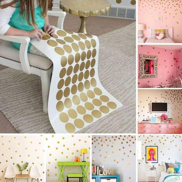 52pcs Nursery Bedroom DIY Wall Sticker Polka Dot Kids Room Decor Decal