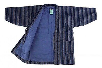 Asian Antiques Japonés Kurume Hecho A Mano Hanten Reducida Winter Coat Talla Única T-stripes Lovely Luster