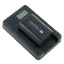 NP-FP50/NP-FV50/NP-FH30 Camera Battery + LCD Charger with High Quality