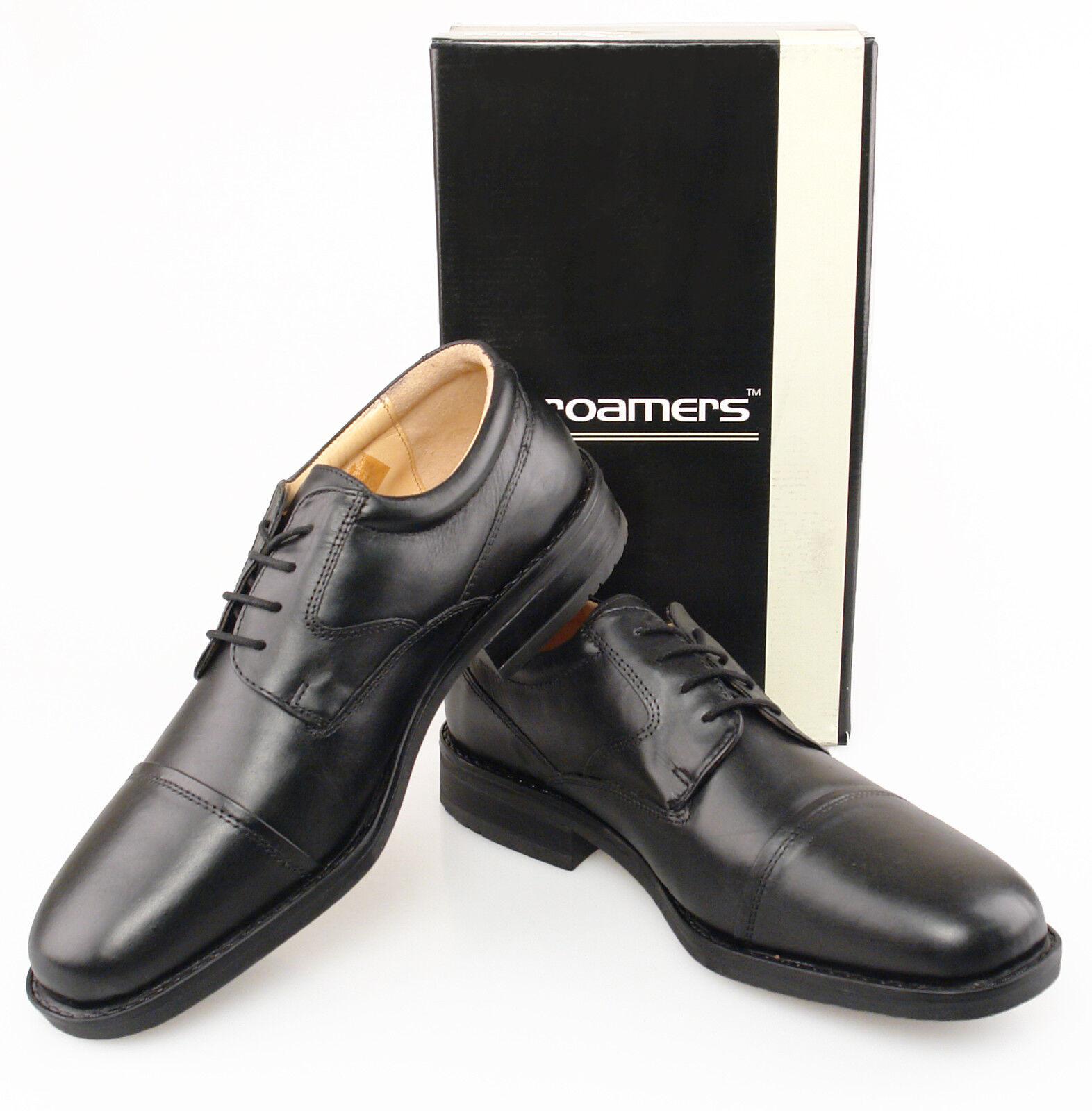 Mens Wide Fitting shoes Black Comfortable Smart Formal Fuller Fitting 6-13