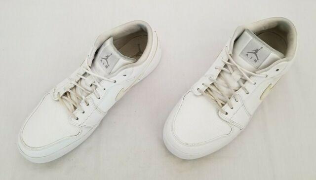 Mens Sz 12 Eu46 White Nike Air Jordan V.2 Leather Casual SNEAKERS 584794-104