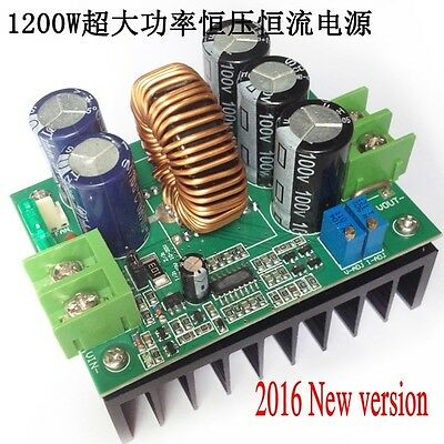 1200W 20A CC/CV Boost Converter DC 8V-60V to 12V-80V Volt Step-up Power Module