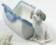 Hund hundefigur porzellanfigur pfeffer Gotha 1900 welpe mit tasche selten