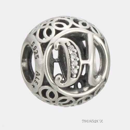 Genuine Authentic Pandora Charm Letter H  791852cz P