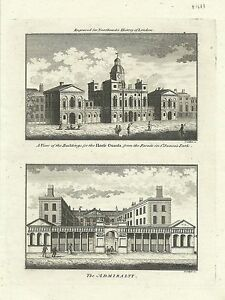 Antique-map-Horse-Guards-The-Admiralty
