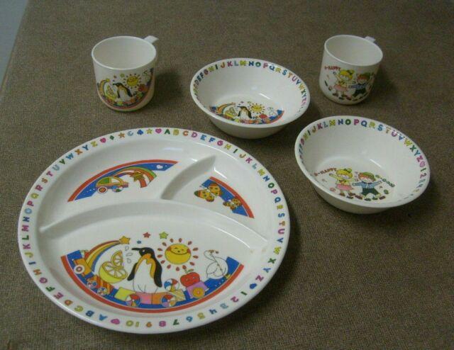 Pri-mel 20cm pansy Separates OR Sets of 4 melamine side tea plate