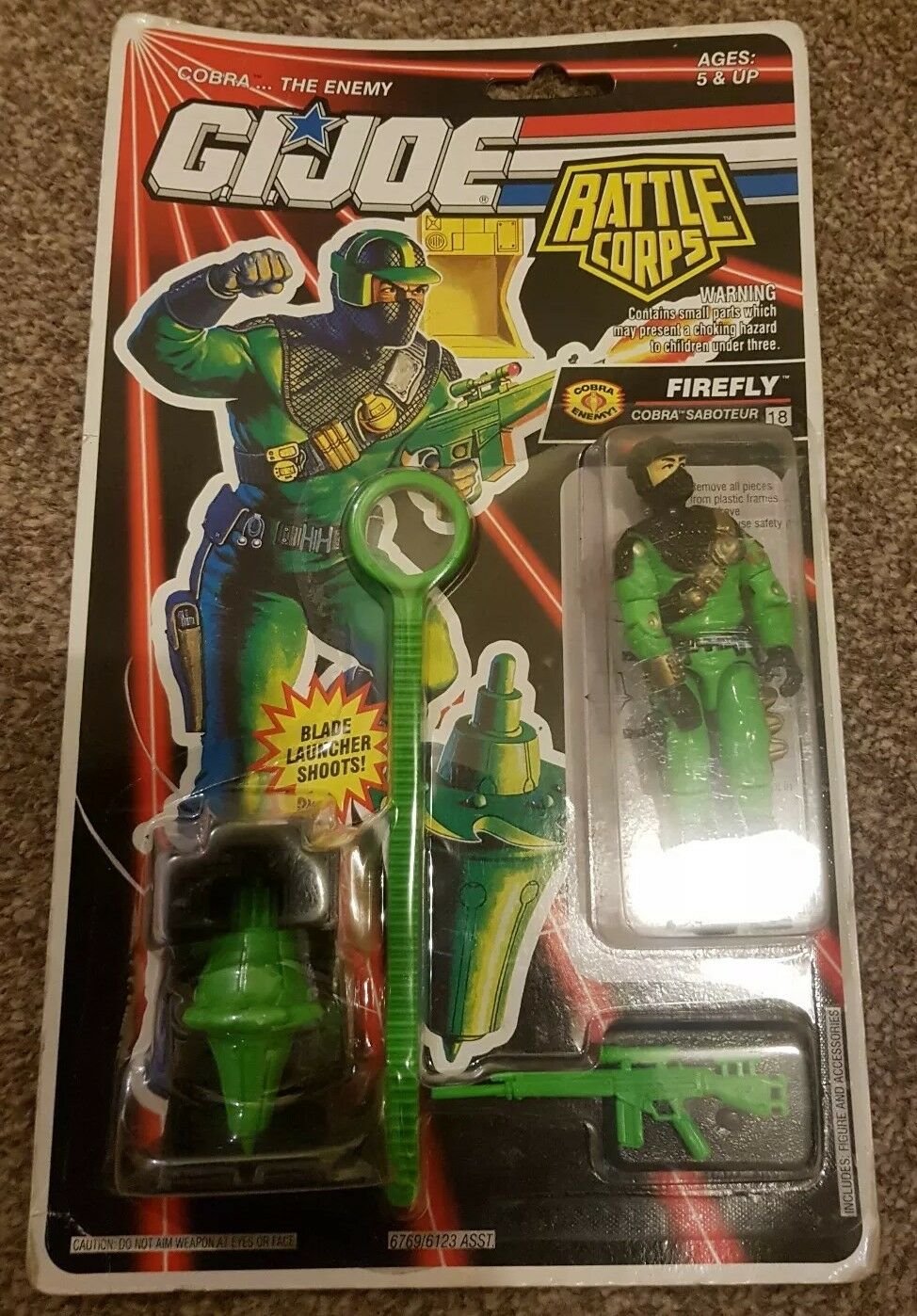 GIJOE BATTLE CORPS FIREFLY COBRA SABOTEUR FIGURE NEW AND AND AND SEALED FREE P&P ce4488