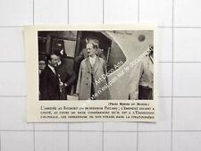 1931 L'arrivée au Bourget du Professeur Piccard