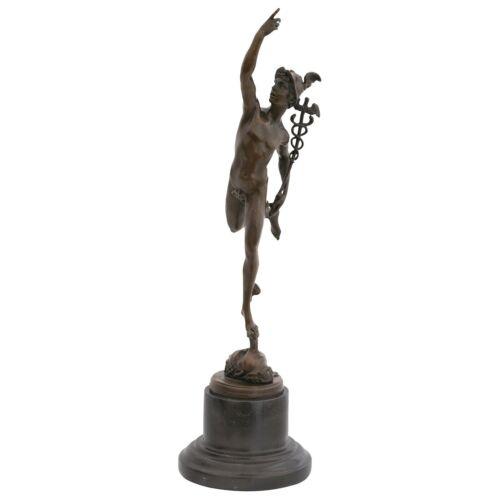 Hermes griechischer Gott Götterbote Bronze Statue Skulptur Deko Akt Mann Figur