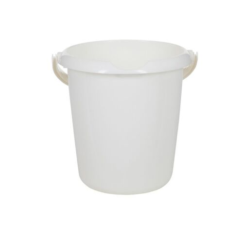 Whitefurze 5 Litre Bucket With Integral Pouring Spout In Cream NEW