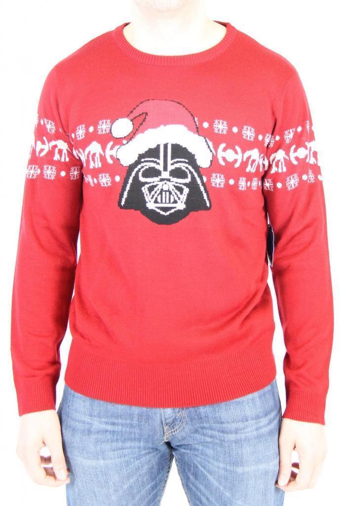 Adult rot Movie Star Wars Santa Hat Dark Side Darth Vader Ugly Christmas Sweater