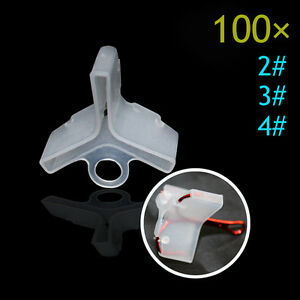 White-100x-Plastic-Treble-Hook-Protectors-Covers-Fishing-Lures-Holders-Suit-Tool