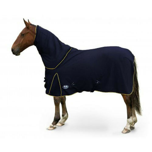 4'9 Gallop Mejestic Fixed Neck Fleece Rug in black
