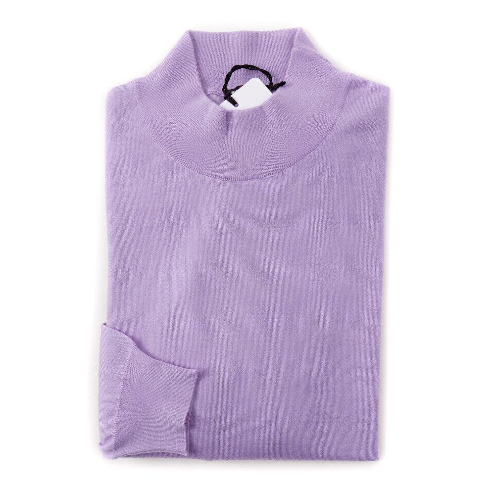 NWT  1995 KITON Lavender Extrafine Cashmere-Silk schweißer M (Eu 50) Slim-Fit