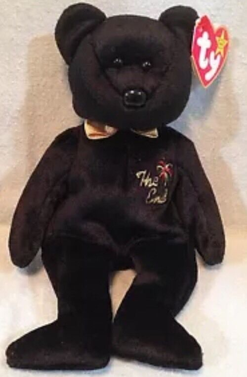☑️Ty Beanie Babies The End Bear 1999 With RARE Tag Errors Mint Condition