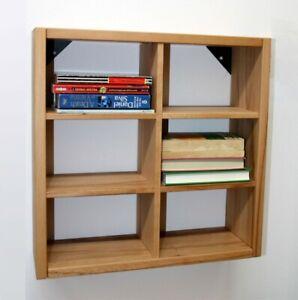 Details zu Massivholz Hänge-regal Kernbuche geölt CD-DVD Küchen Regale Holz  Wandregal Flur