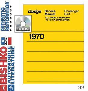 1972 Dodge Challenger Dart Shop Service Repair Manual Engine Drivetrain Wiring