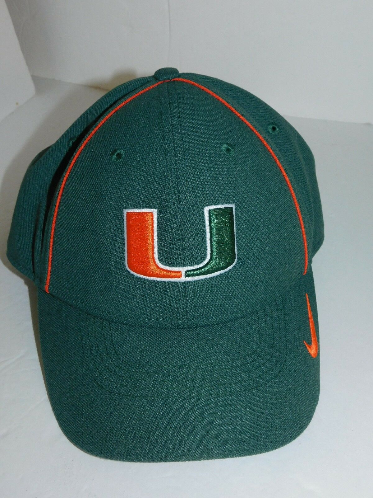 041362136f38d ... new zealand nike dri fit miami hurricanes legacy 91 dri fit nike hat cap  green 1a8595