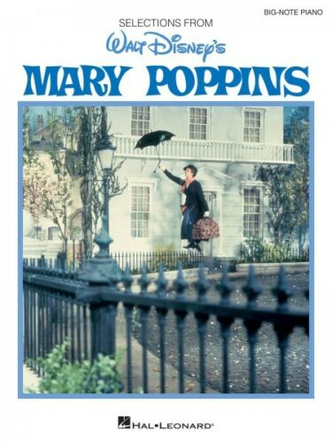 Mary Poppins Sheet Music Big Note Vocal Selections NEW 000119402