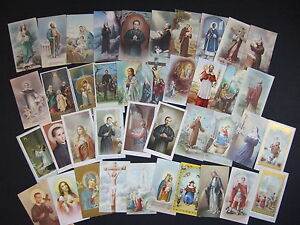 Lot-of-40-Vintage-Catholic-HOLY-CARDS-Saints-pictures-Germany-Italy