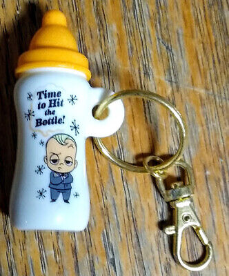 Time to Hit the Bottle NEW NIP Deamworks Boss Baby Keychain Bottle