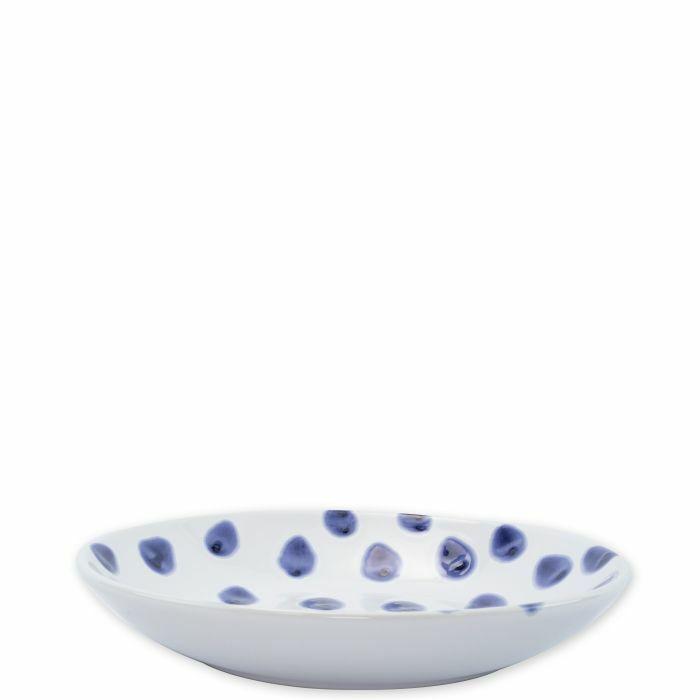 Vietri Santorini Dot Pasta Bowl - Set of 12