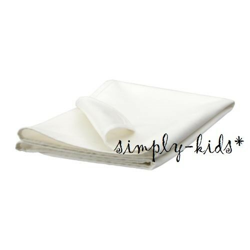 Ikea Len Crib Bed Mattress Protector White 39 X 27 Quot Cotton