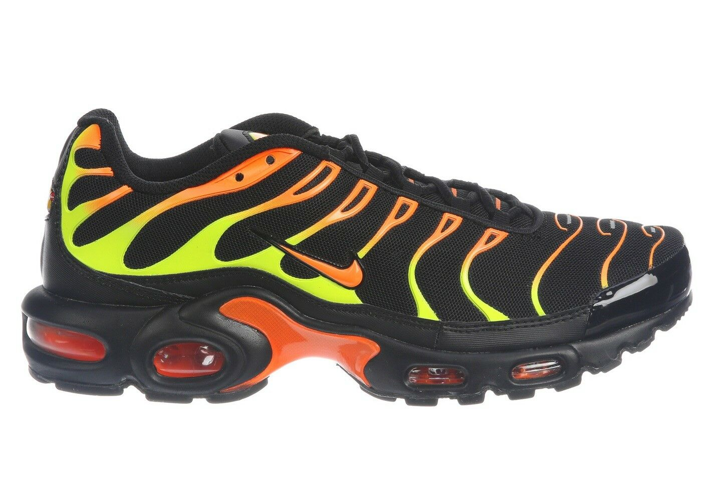 Nike Air Max Plus Mens 852630-033 Black Volt Orange Running Shoes Size 13