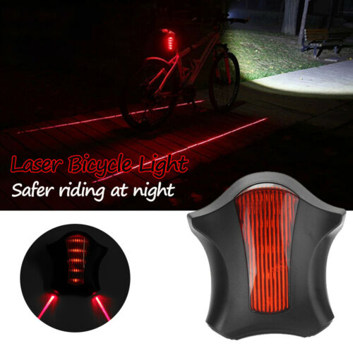5 LED Bike Laser Rear Light  Lamp Alert Flashing Cycling Bicycle Safety Warning