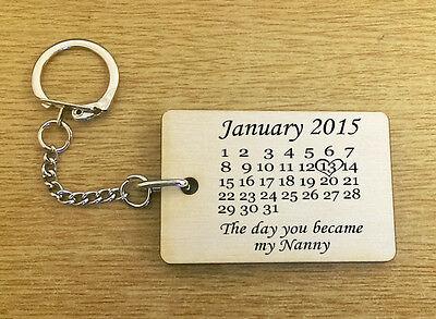 NANNY Nan Nana Mum Mothers Day Gift Keyring Keychain Key Bespoke Stainless Steel