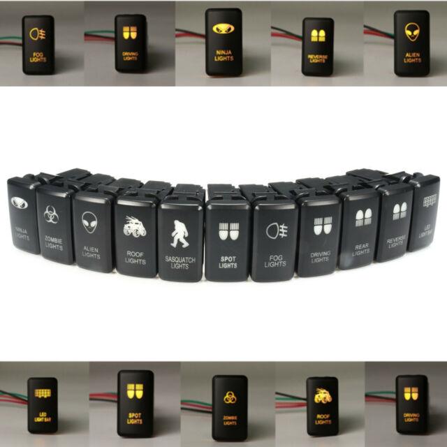 12V LED Car Fog Light Bar Push Switch For Toyota Landcruiser Hilux Prado 120 FJ
