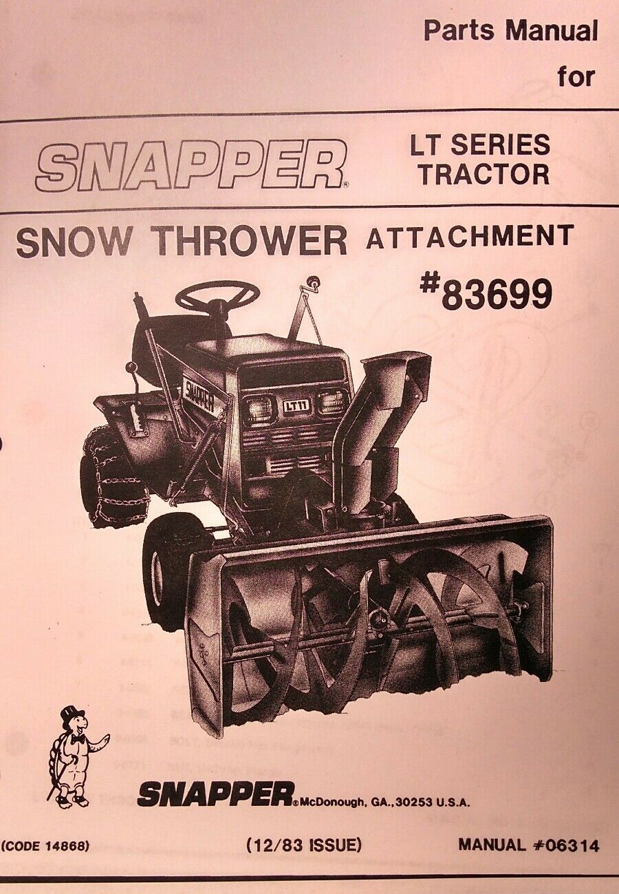 Snapper Lt12 Lt16 Lawn Tractor Parts Manual Ebay Diagram Norton Secured Powered By Verisign