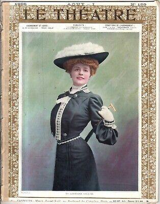 1905 Le Theatre Agosto 1 - Theatre Antoine; Gallois; Mrs Marrón Potter; Lynnes Exuberante En DiseñO