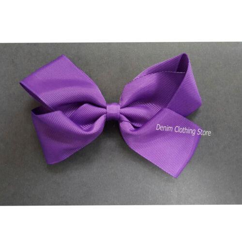 "12pc Boutique Hair Bow Grosgrain Ribbon Kid Toddler Baby Girl Clip Alligator 5/"""